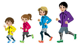 running-family-isolated-vector-illustration-44748839