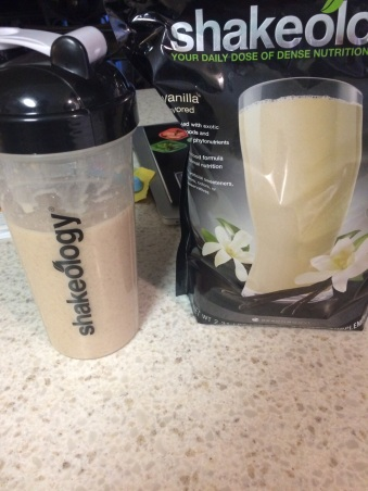 First time drinking Shakeology. Will admit it curbed cravings from breakfast to lunch.